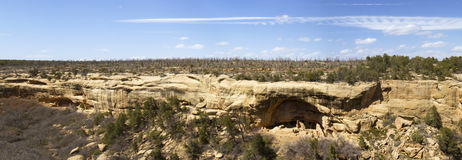 Panoramic Views of Cliff Dwellings in Mesa Verde N Royalty Free Stock Photo