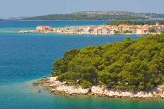 Panoramic views of the croatian coast, Dalmatia Royalty Free Stock Photos