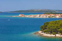 Panoramic views of the croatian coast, Dalmatia Royalty Free Stock Photo