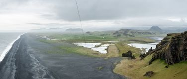 Panoramic views from Dyrholaey lighthouse, Iceland royalty free stock photos