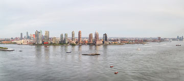 Panoramic views of the East River from the United Nations Buildi Stock Photos