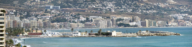 Panoramic view of embankment, Fuengirola - Spain Stock Image