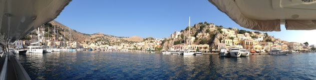 panoramic views of the Greek islands Royalty Free Stock Photo