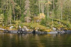 Panoramic views of the island of Valaam. The Northern part of lake Ladoga. Republic of Karelia. Russian Federation. 2017 royalty free stock photos