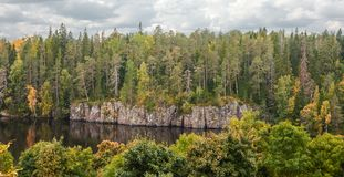 Panoramic views of the island of Valaam. The Northern part of lake Ladoga. Republic of Karelia. Russian Federation. 2017 royalty free stock photography