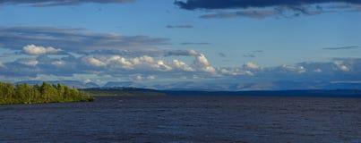 Panoramic Views of the Khibiny mountains. Photographed on lake Imandra, Kola Peninsula, Russia Stock Images