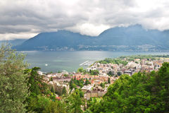 Panoramic views of Locarno. Stock Photos