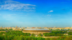 Panoramic views of Moscow from vorobevy Hills Stock Photos