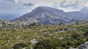 Panoramic views of the mountains of the Tramuntana mountain rang Stock Photo