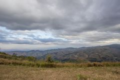 Panoramic views from mountaintop of Phu Lom Lo,Phu Hin Rong Kla National Park,Kok Sathon,Dan Sai District,Loei,Thailand. Phu Lom Lo is the new tourist attraction Royalty Free Stock Photos