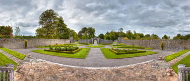 Panoramic Views Of The Portumna Gardens In Ireland Stock Photography