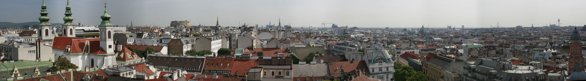 Panoramic views over Vienna Royalty Free Stock Image