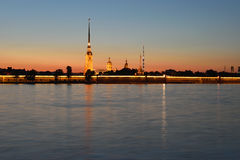 Panoramic views of the Peter and Paul fortress Royalty Free Stock Photo