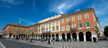 Panoramic views of the Place Massena Royalty Free Stock Photo