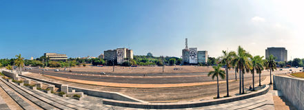 Panoramic views of the Plaza of the Revolution Royalty Free Stock Images