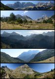 Panoramic views of Pyrenees stock images