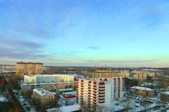 Panoramic views of residential area Royalty Free Stock Photos