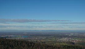 Panoramic views of the rhine valley Royalty Free Stock Photo