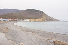 Panoramic views of sea bay in the village of Sukko spring Royalty Free Stock Photos