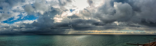 Panoramic views of the sea in Sochi Royalty Free Stock Images