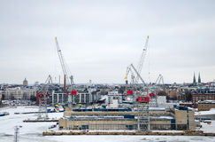Panoramic views of the shipyard. Stock Photos