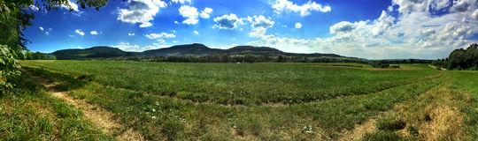 Panoramic views of the Swabian Alb Royalty Free Stock Photography