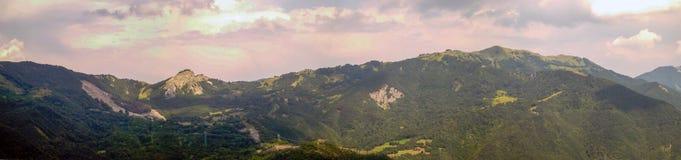 Panoramic views of the Tuscan-Emilian Apennines Italy Stock Photos