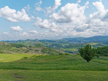 Panoramic views of the Tuscan-Emilian Apennines Italy Royalty Free Stock Photography