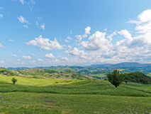 Panoramic views of the Tuscan-Emilian Apennines Italy Royalty Free Stock Images