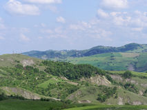 Panoramic views of the Tuscan-Emilian Apennines Italy Royalty Free Stock Photos