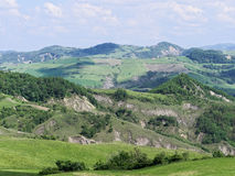 Panoramic views of the Tuscan-Emilian Apennines Italy Royalty Free Stock Image