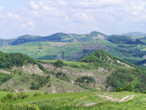 Panoramic views of the Tuscan-Emilian Apennines Italy Royalty Free Stock Photo