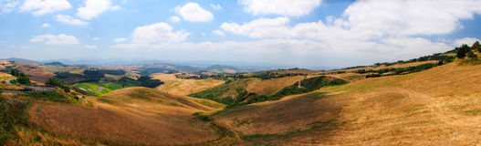 Panoramic views of the Tuscan hills Stock Photo