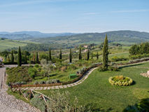 Panoramic views of the Tuscan hills Royalty Free Stock Photos