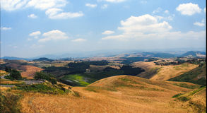 Panoramic views of the Tuscan hills Royalty Free Stock Images