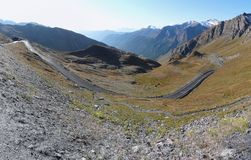 Panoramic viex : border in the alpes (france) Royalty Free Stock Photos