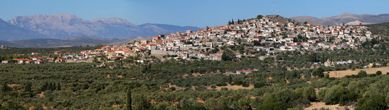 Panoramic of Village In Lakonia, Greece Stock Images