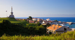 Panoramic of the ville of Comillas Stock Photos