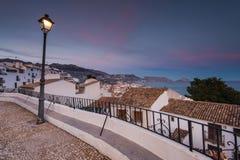 Panoramic vista from balcony in Altea, Spain Stock Image