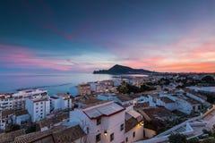 Panoramic vista from balcony in Altea, Spain Royalty Free Stock Photo