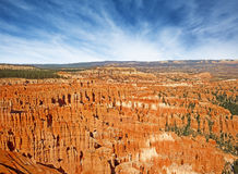 Panoramic vista of the Bryce Canyon Royalty Free Stock Photo