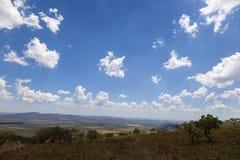 Panoramic vista over the bush veld royalty free stock image