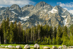 Panoramic vista on Poland highest mountains range Stock Photography