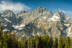 Panoramic vista on Poland highest mountains range Royalty Free Stock Image