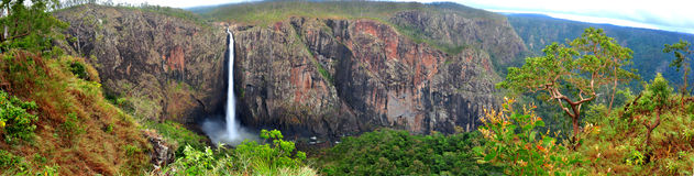Panoramic of Wallaman Falls, Armidale, NSW, Australia Stock Photos