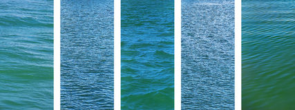 Panoramic water set banner background Stock Photography
