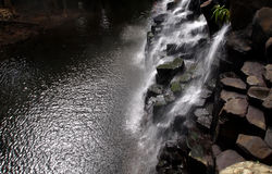 Panoramic waterfall landscape. Dream waterfall in Rochester, Mauritius Royalty Free Stock Photos