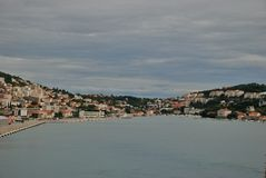 Panoramic waterfront view of Dubrovnik, Croatia Royalty Free Stock Image