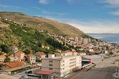 Panoramic waterfront view of Dubrovnik port, Croatia Stock Photography