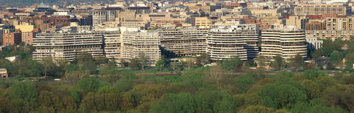 Panoramic of the Watergate in Washington, DC Royalty Free Stock Image